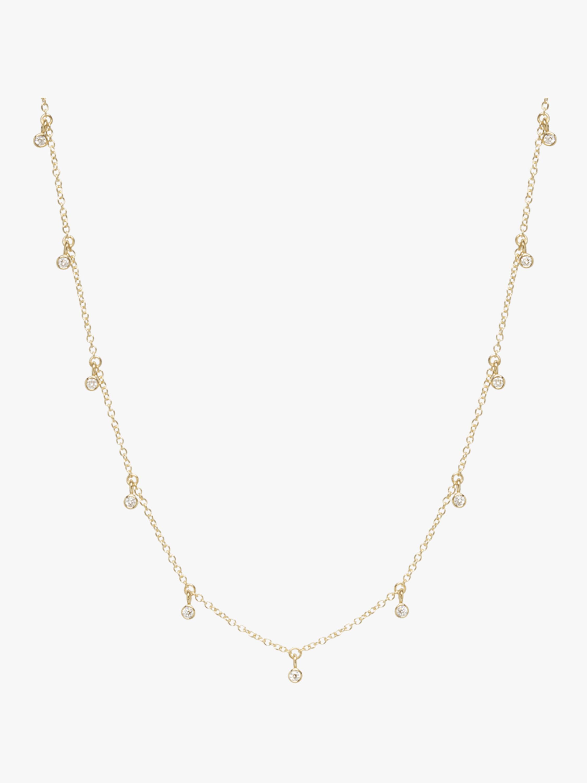 Bezel Diamond Station Necklace