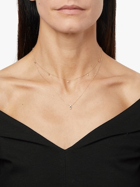 Bezel Diamond Station Choker Necklace