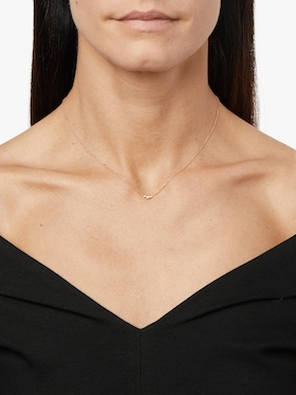 Graduated Bezel Diamond Necklace