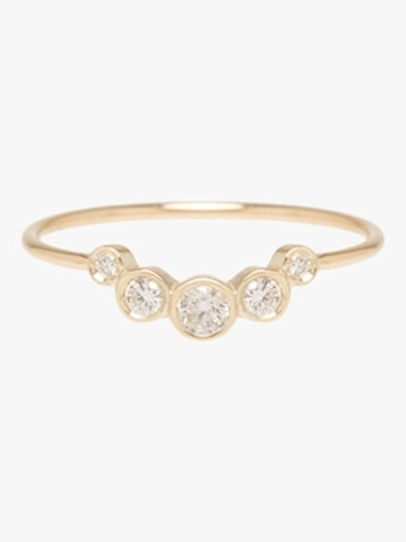 Graduated Bezel Diamond Ring