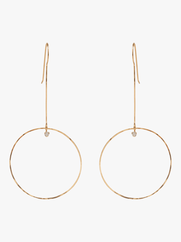 Paris Drop Circle Diamond Earrings