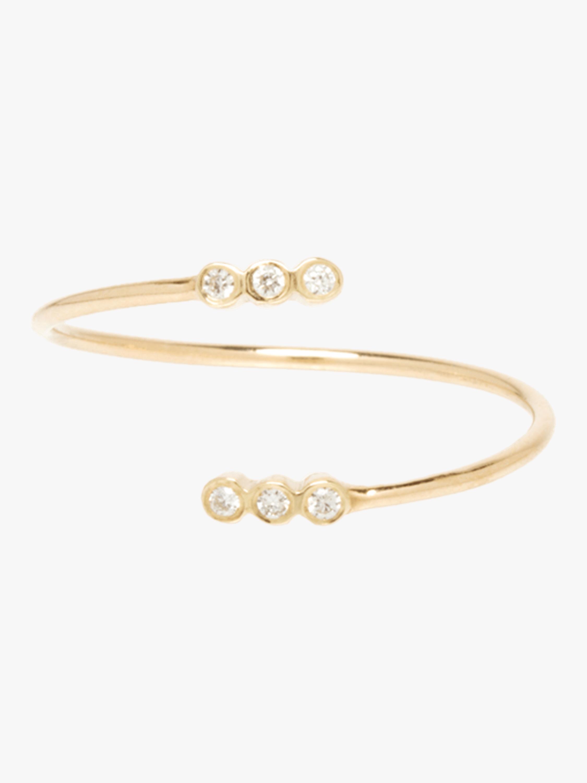 Tiny Bezel Diamond Bypass Ring