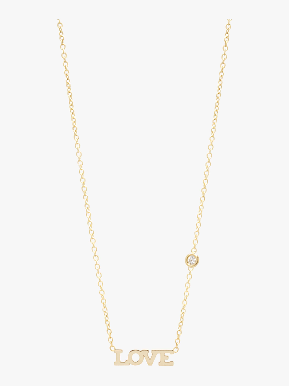Itty Bitty LOVE Diamond Necklace