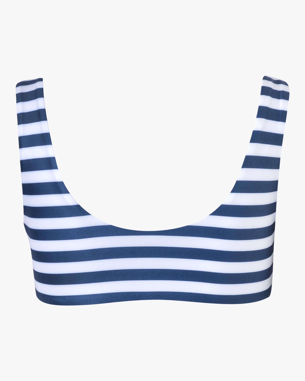 Verde Limón Blue Stripes Amazonas Bikini Top 2