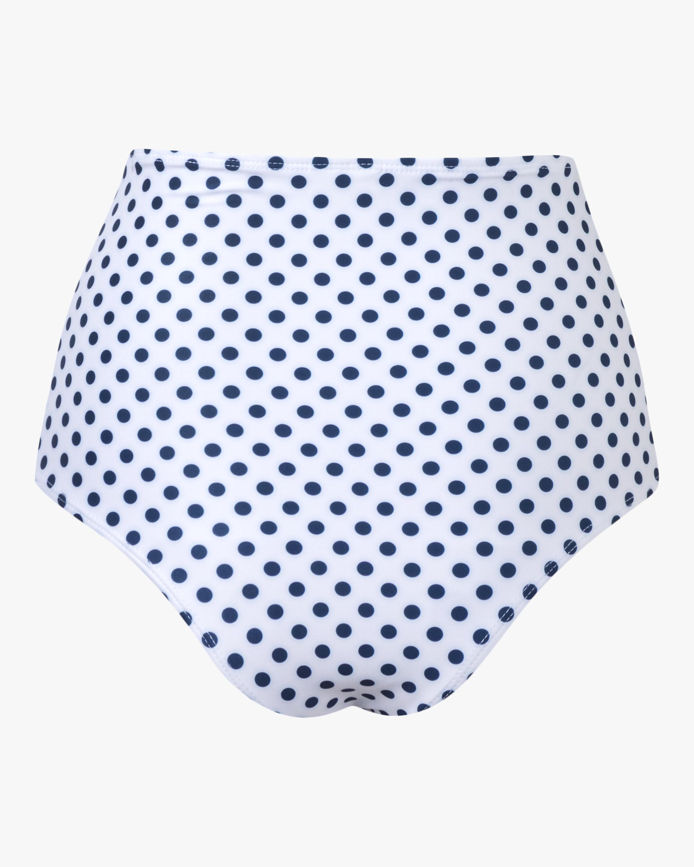 Verde Limón Blue Dots Banes Bikini Bottom 1