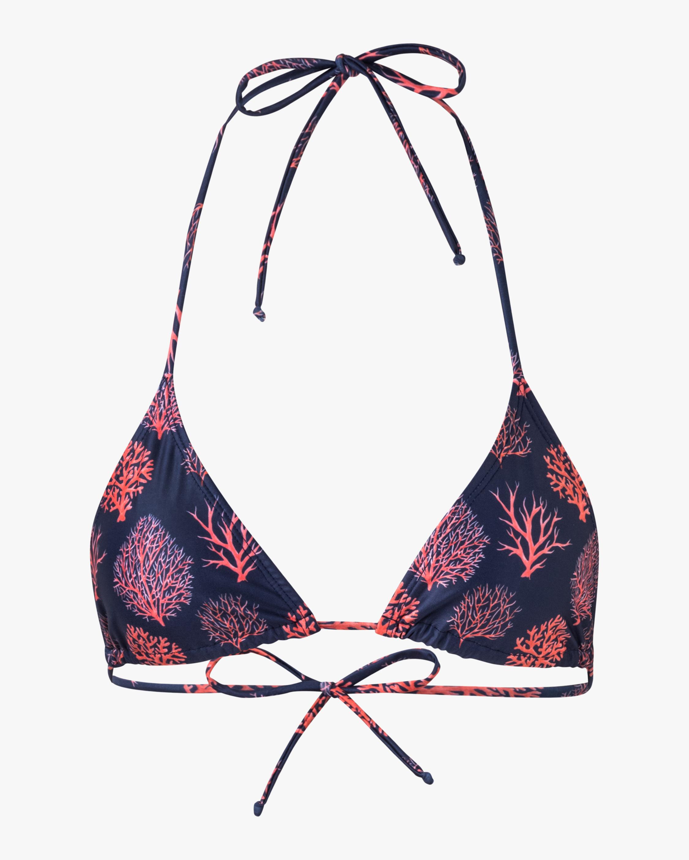 Verde Limón Coral Moa String Bikini Top 0