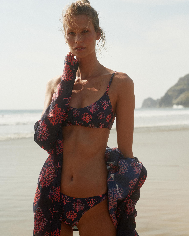 Verde Limón Coral Sol Bikini Top 2