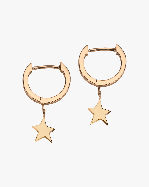 Jennifer Zeuner Mika Star Huggie Earrings 1