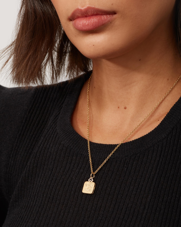 Devon Woodhill Diamond Trefoil Pillow Locket Necklace 1