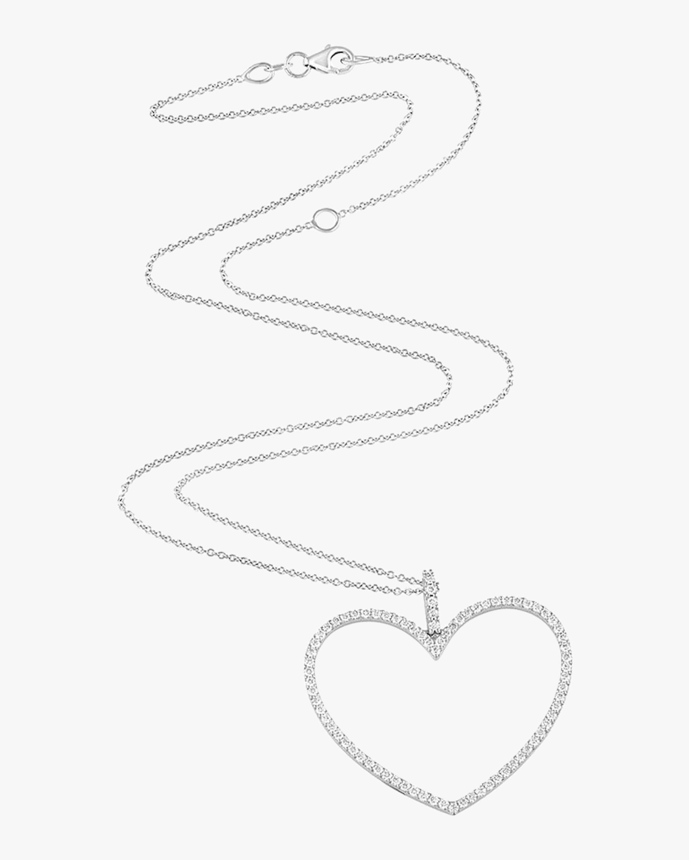 Jane Kaye Oversized Open Heart Necklace 1