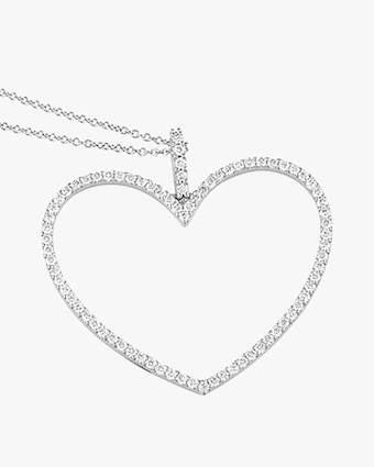 Jane Kaye Oversized Open Heart Necklace 2