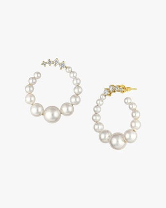 Jane Kaye Pearl Hoop Earrings 1