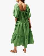 Solid & Striped Tiered Peasant Dress 1