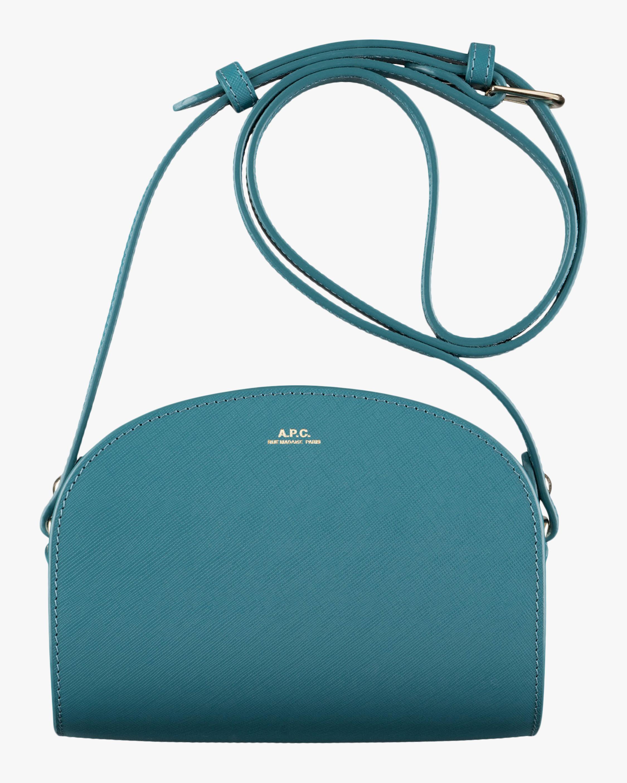 A.P.C. Blue Mini Demi-Lune Crossbody Bag 0