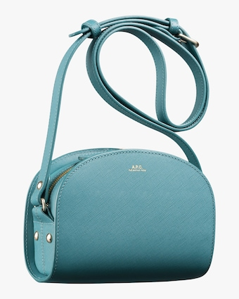 Blue Mini Demi-Lune Crossbody Bag
