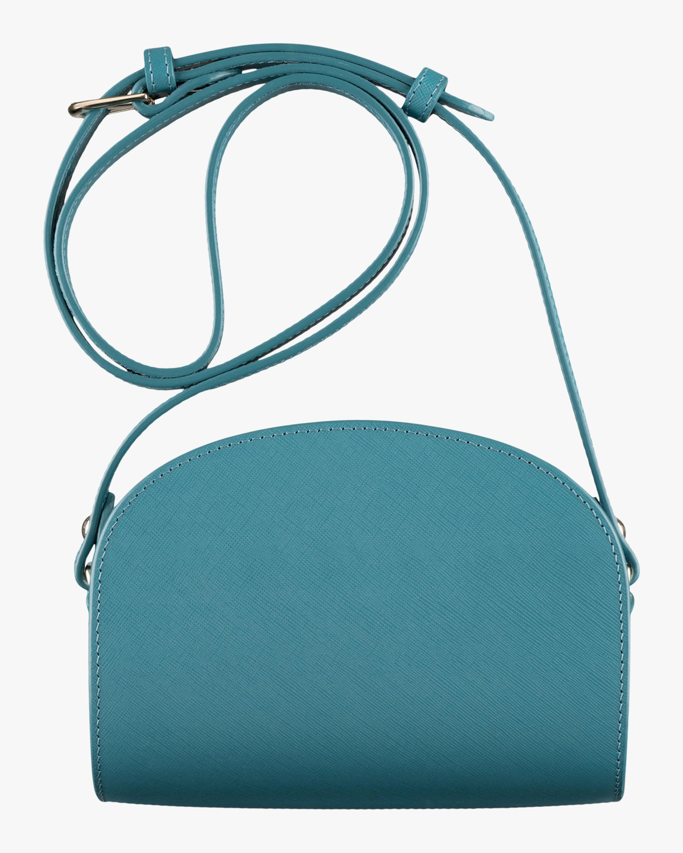 A.P.C. Blue Mini Demi-Lune Crossbody Bag 2