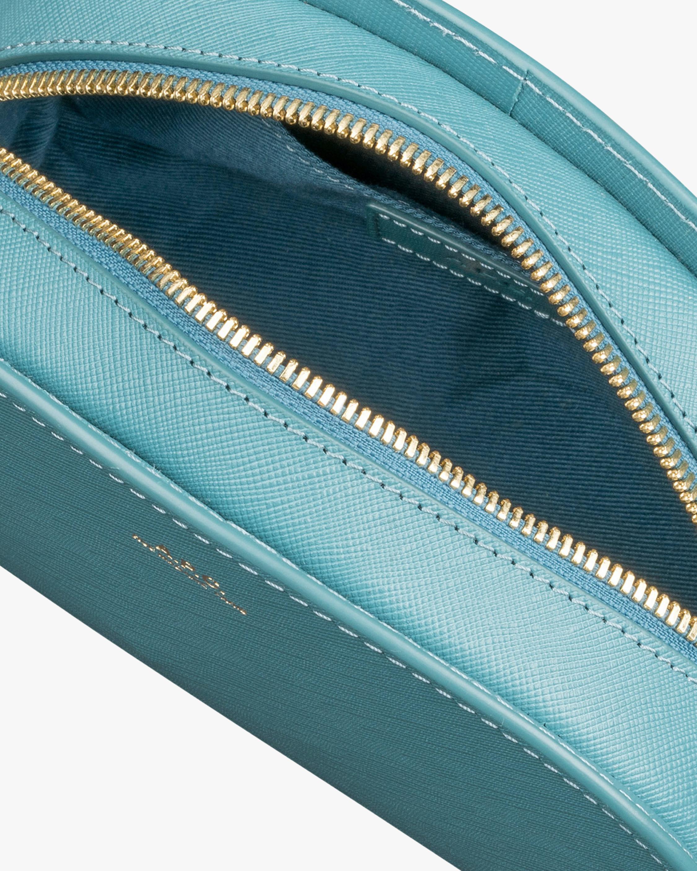 A.P.C. Blue Mini Demi-Lune Crossbody Bag 3