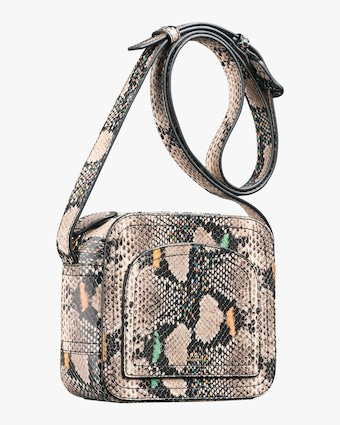 Louisette Python-Embossed Crossbody Bag