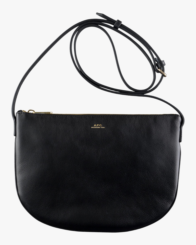 A.P.C. Black Maelys Crossbody Bag 0
