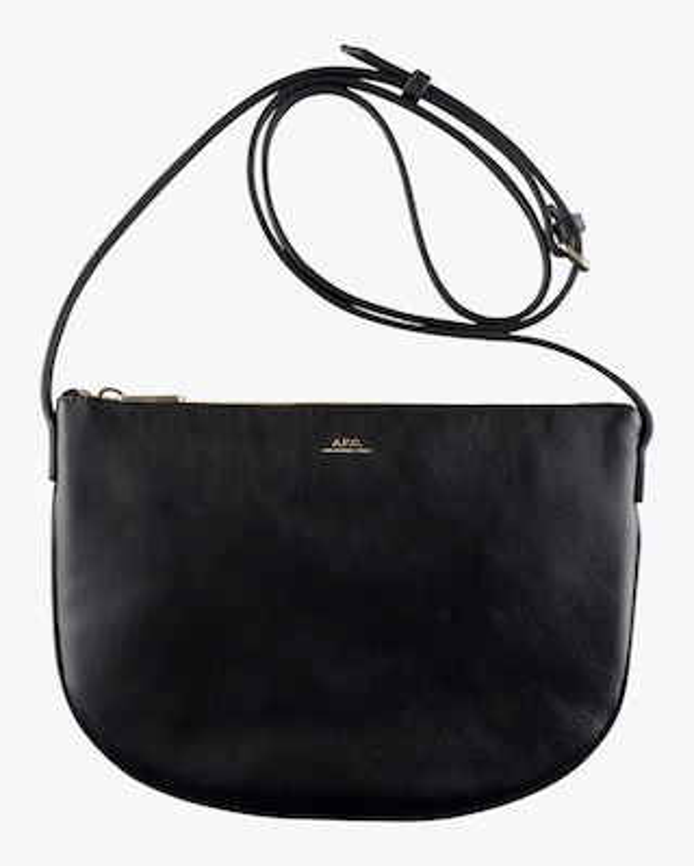 A.P.C. Black Maelys Crossbody Bag 1