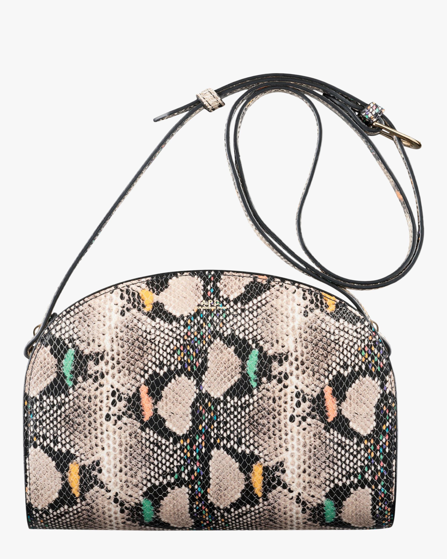 Dem-Lune Python-Embossed Crossbody Bag