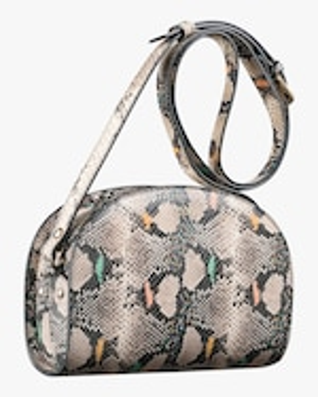 A.P.C. Dem-Lune Python-Embossed Crossbody Bag 1