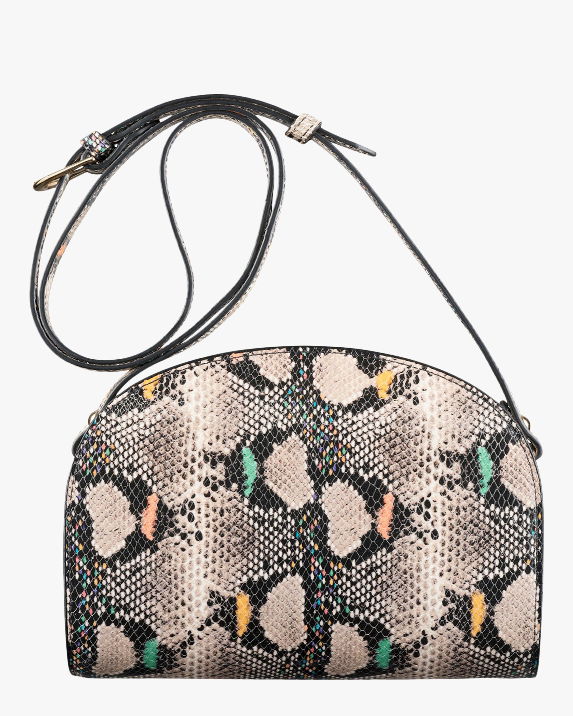 A.P.C. Dem-Lune Python-Embossed Crossbody Bag 2