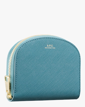 A.P.C. Blue Compact Demi-Lune Change Purse 2