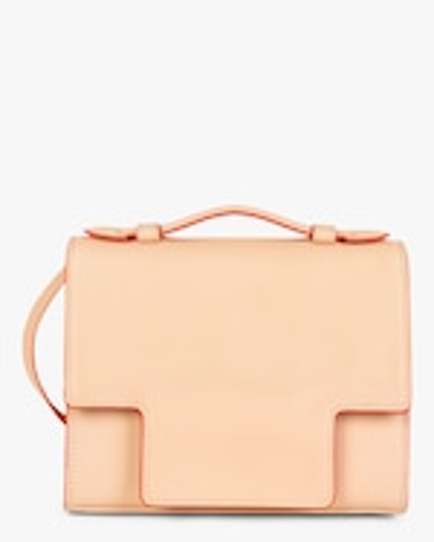 Montunas Scarf-Tie Leather Crossbody Bag 1