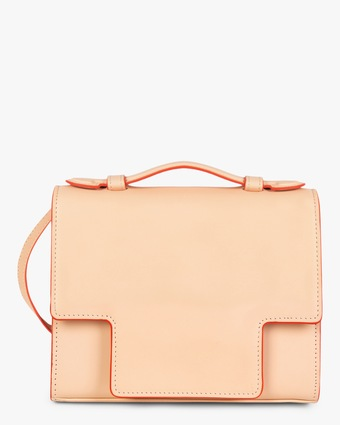 Scarf-Tie Leather Crossbody Bag