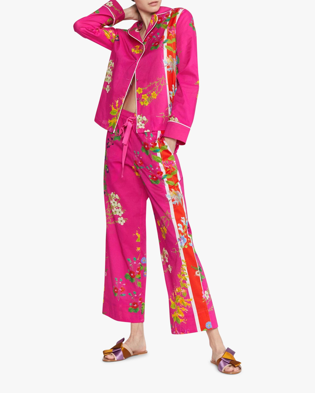 Cynthia Rowley Botanical Print Pajama Pants 0