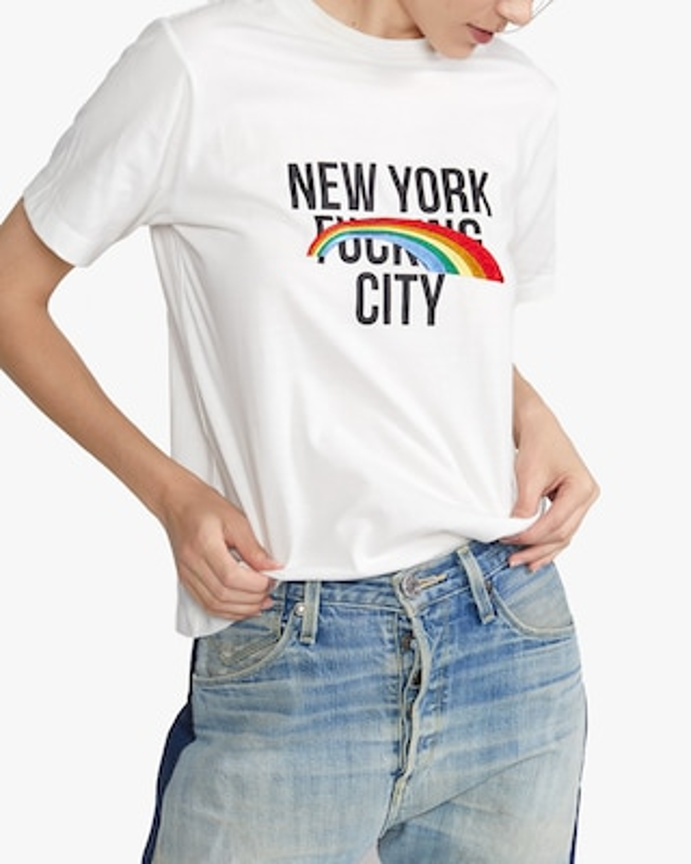 Cynthia Rowley New York Rainbow City Tee 1