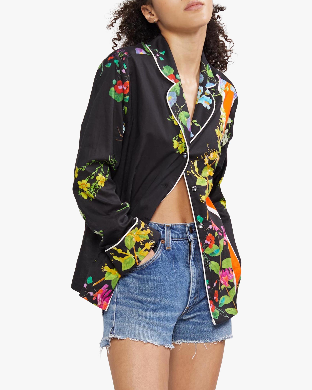 Cynthia Rowley Botanical Print Pajama Shirt 1