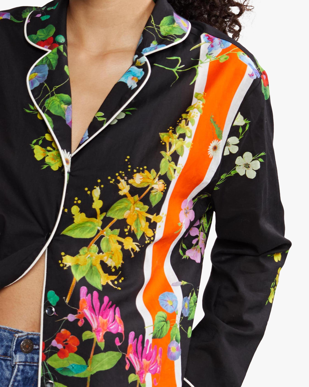 Cynthia Rowley Botanical Print Pajama Shirt 2