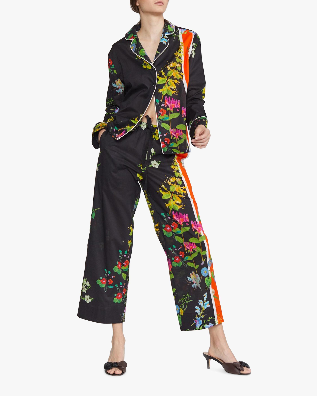 Cynthia Rowley Botanical Print Pajama Shirt 3