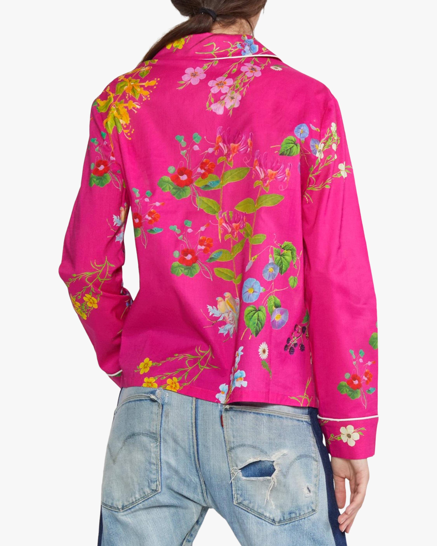 Botanical Print Pajama Shirt