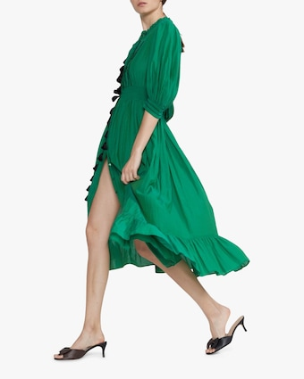 Cynthia Rowley Laila Tassel Midi Dress 2