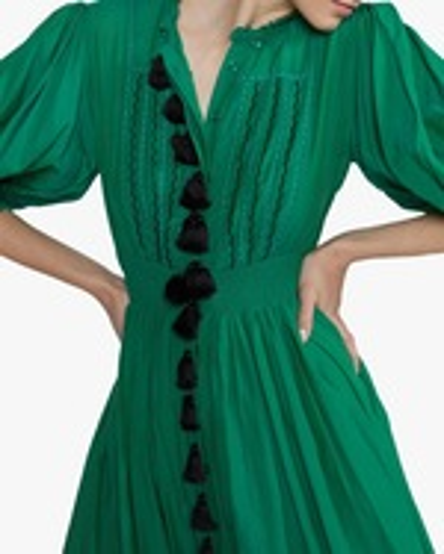 Cynthia Rowley Laila Tassel Midi Dress 3