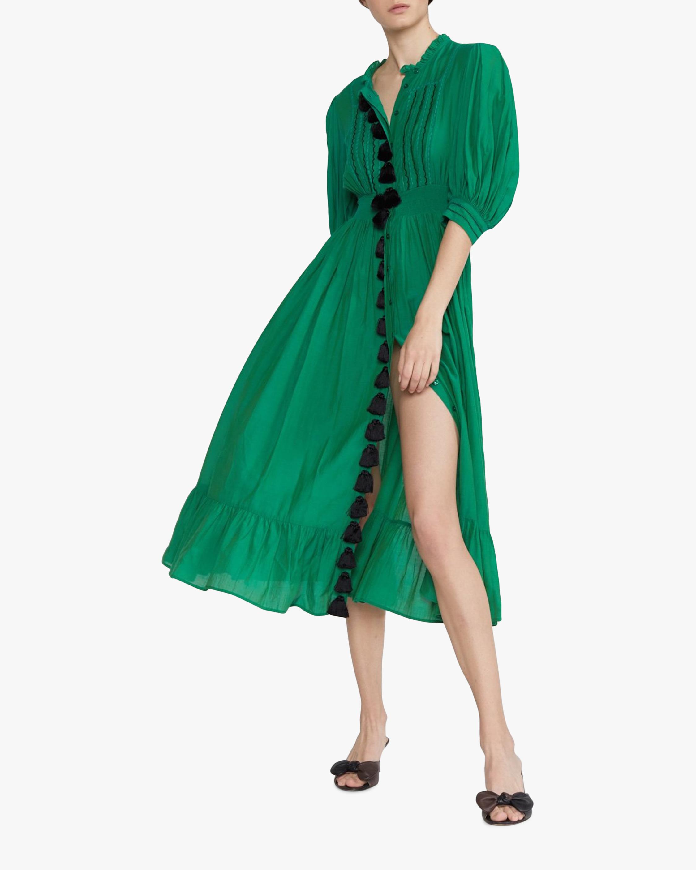 Cynthia Rowley Laila Tassel Midi Dress 0