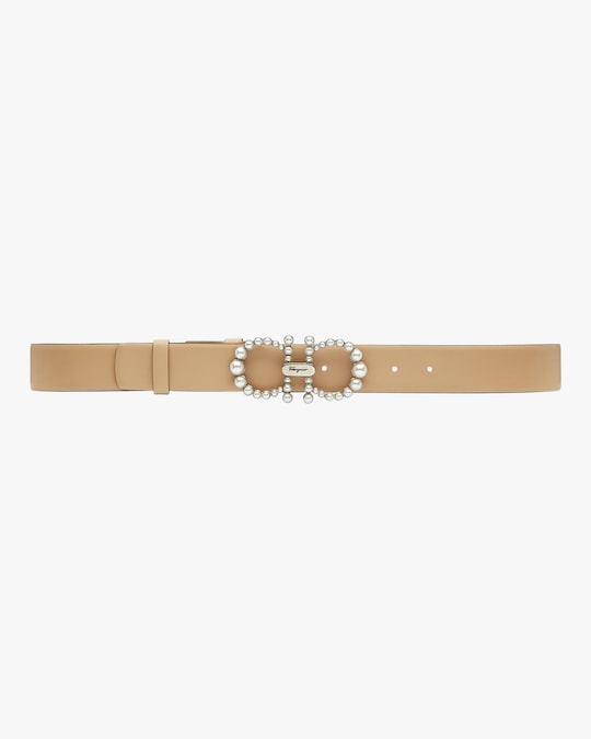 Salvatore Ferragamo Silvertone-Buckle Leather Belt 0