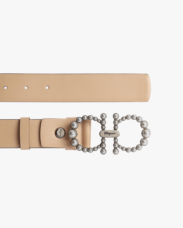 Salvatore Ferragamo Silvertone-Buckle Leather Belt 2