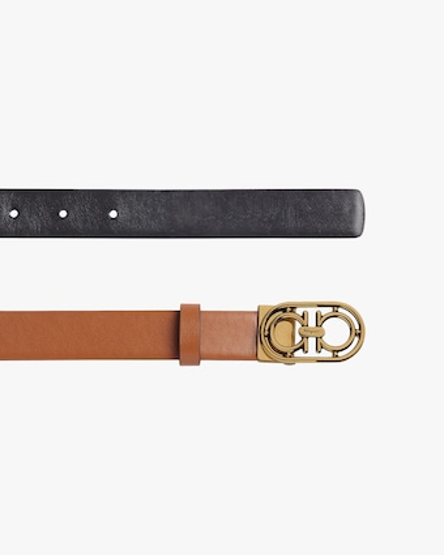 Salvatore Ferragamo Goldtone-Buckle Leather Belt 2