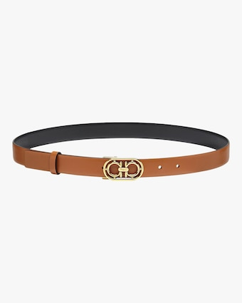 Salvatore Ferragamo Goldtone-Buckle Leather Belt 1