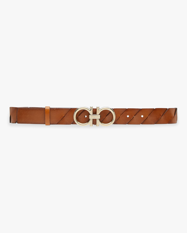Salvatore Ferragamo Braided Leather Belt 1