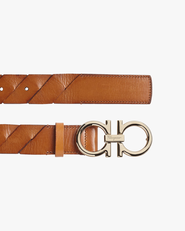 Salvatore Ferragamo Braided Leather Belt 2