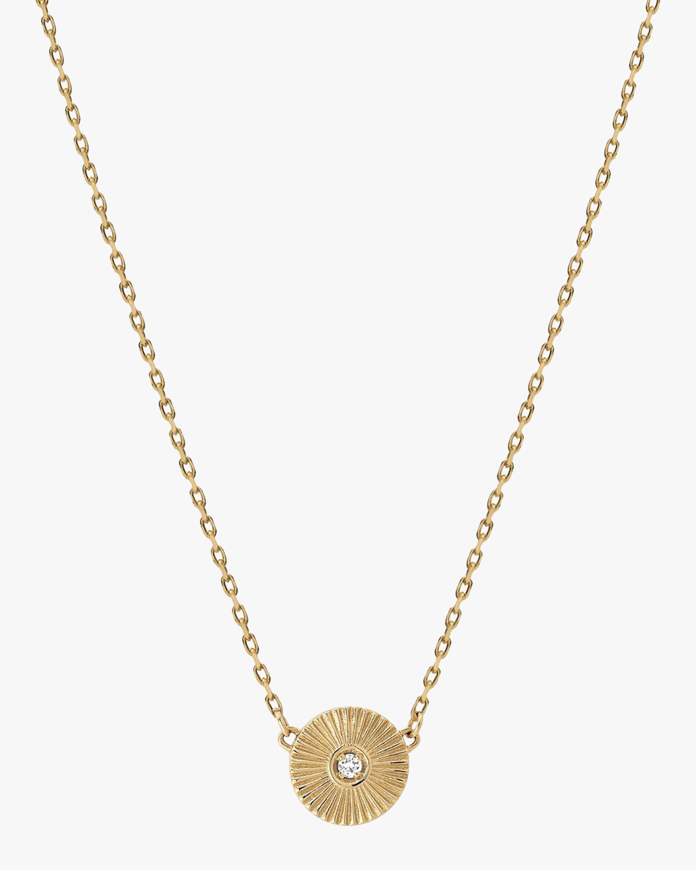 Miansai Rey Pendant Necklace In Yellow Gold