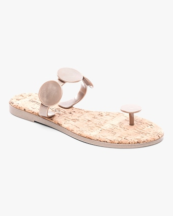 Platinum New Moon Jelly Sandal