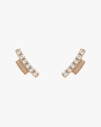 Harika Diamond Bar Stud Earrings 2
