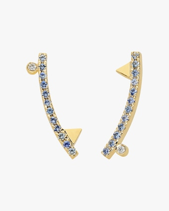 Harika Geometric Gold Stud Earrings 2