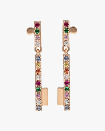 Harika Sapphire & Diamond Drop Earrings 2